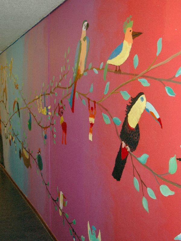 Muurschildering nieuwe basisschool