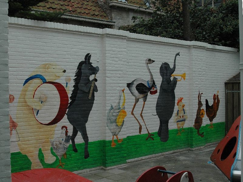 Muurschildering kinderdagverblijf